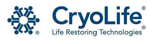 Cryolife logo. (PRNewsFoto/CryoLife, Inc.) (PRNewsFoto/CRYOLIFE_ INC_) (PRNewsFoto/CRYOLIFE, INC.) (PRNewsFoto/CRYOLIFE, INC.)