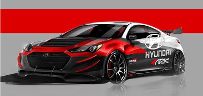 ARK PERFORMANCE TO UNVEIL HYUNDAI GENESIS COUPE R-SPEC TRACK EDITION AT 2012 SEMA SHOW.  (PRNewsFoto/Hyundai Motor America)