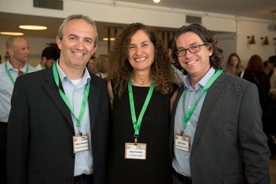 From left to right: Oded Distel, Director of Invest in Israel at the Israeli Ministry of Economy; Dr. Nitza Kardish, CEO of Trendlines Agtech; Gideon Soesman, Co-Founder and Managing Partner, GreenSoil Investments