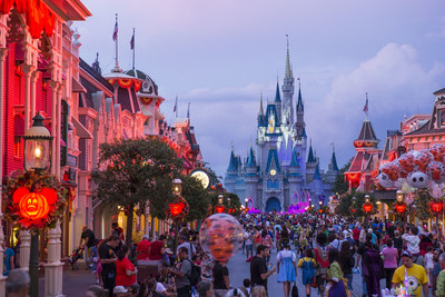 The Magic Kingdom comes alive with jack-o-lanterns, special characters and entertainment during Mickey's Not-So-Scary Halloween Party, one of many Halloween events in Orlando.