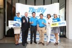 Thrifty Thailand's management team celebrates the launch of the brand