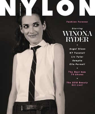Winona Ryder Steps Out for NYLON's Biggest Issue of the Year. credit: NYLON/Jesse John Jenkins