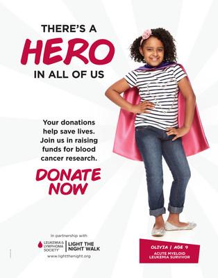 Olivia, age 9, acute myeloid leukemia survivor.