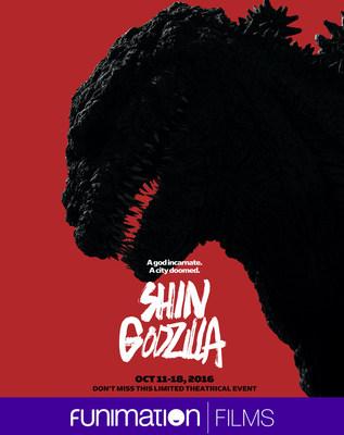 SHIN GODZILLA theatrical poster art. Courtesy of Funimation Films.