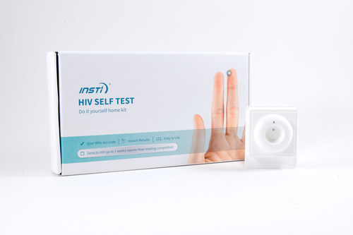 An HIV home test that provides instant results. (PRNewsFoto/bioLytical Laboratories)