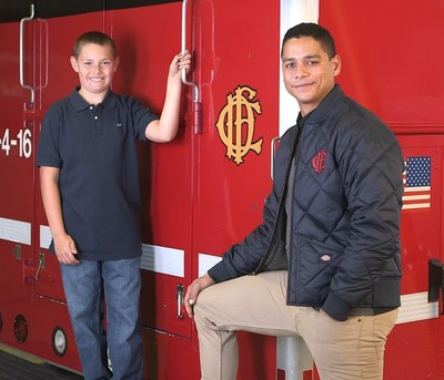 Charlie Barnett of NBC's Chicago Fire teams with Shriners Hospitals for Children and their patient Ollie to reduce the risks of house fires and burn injuries this holiday season.
