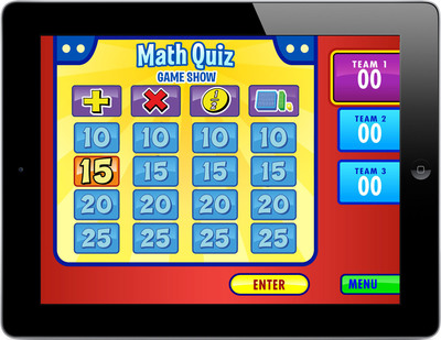 Math Quiz Game Show for grades 1 - 3.  (PRNewsFoto/Lakeshore Learning Materials)