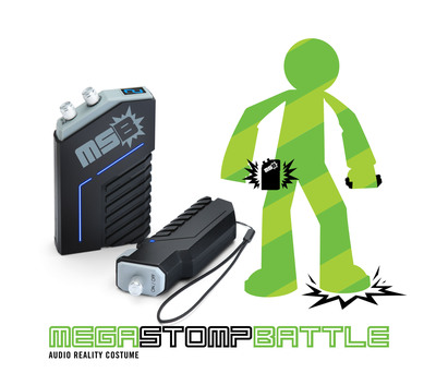 The Mega Stomp Battle from ThinkGeek.com, an audio reality costume to bring your imagination and play to life.  (PRNewsFoto/Geeknet, Inc.)