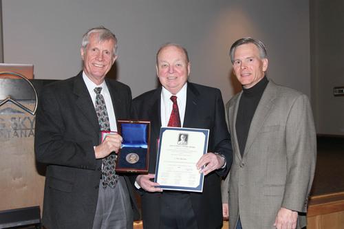 Prof. Richard Miles from Princeton, Don Bateman, Dr. Erik Nilsen 2014 IEEE Aerospace; Conference Chairman.  (PRNewsFoto/Honeywell)