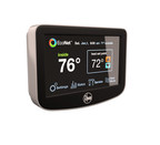 Homeowners can manage their EcoNet system through a smart thermostat, shown here, or a free mobile app available on both both iOS and Android platforms.