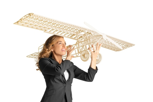 Large 3D Printed Airplane Model, Created on the Objet1000 Wide Format 3D Printer.