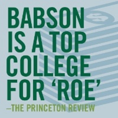 Babson College Named One of the Top 'Colleges That Pay You Back' By The Princeton Review