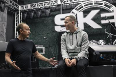 DJ SKEE and Chris Carmichael, CEO of Ubiquity, Inc., at Ubiquity Studios, Irvine CA