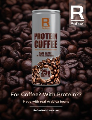 Protein Coffee, in a Can, Ready to Go! (PRNewsFoto/Reflex Nutrition)