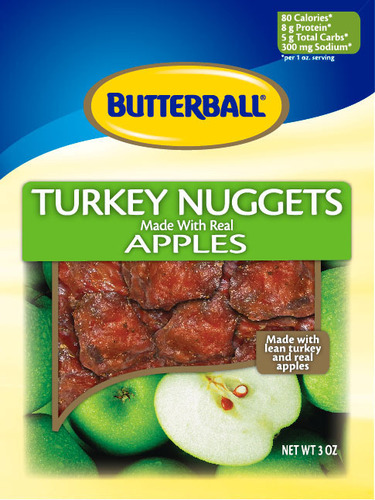 Butterball Apple Turkey Nuggets.  (PRNewsFoto/Monogram Food Solutions LLC)