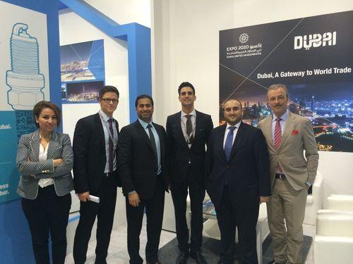 Jafza sales team with potential investors at Automechanika Frankfurt (PRNewsFoto/Jafza)
