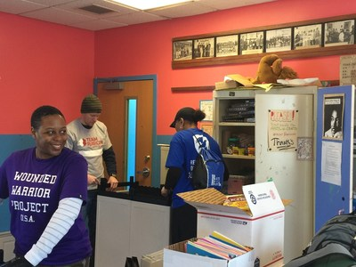 Wounded Warrior Project Alumni help at MLK Day of Service in Newport News, Virginia