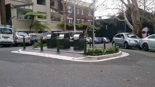 Site of the Royston St. Underground Bin System, Darlinghurst, Sydney (PRNewsFoto/SmartBin)