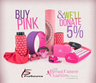 When you buy any of these products, or any other pink fitness equipment/accessories, you participate in the prevention, awareness, and survival of breast cancer. During October, when you buy any pink fitness product from prosourcefit.com, we will donate 5% to the Breast Cancer Charities of America.