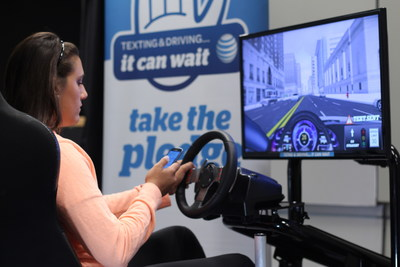 The It Can Wait simulator. Photo courtesy AT&T.