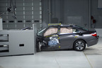 2013 Honda Accord in IIHS small overlap frontal crash test.  (PRNewsFoto/Insurance Institute for Highway Safety)