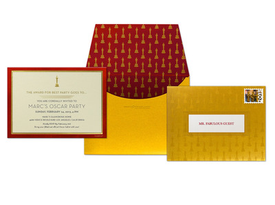 """The Envelope Please"" Evite Postmark Invitation from The Oscar(R) Collection by Marc Friedland.  (PRNewsFoto/Evite Postmark)"
