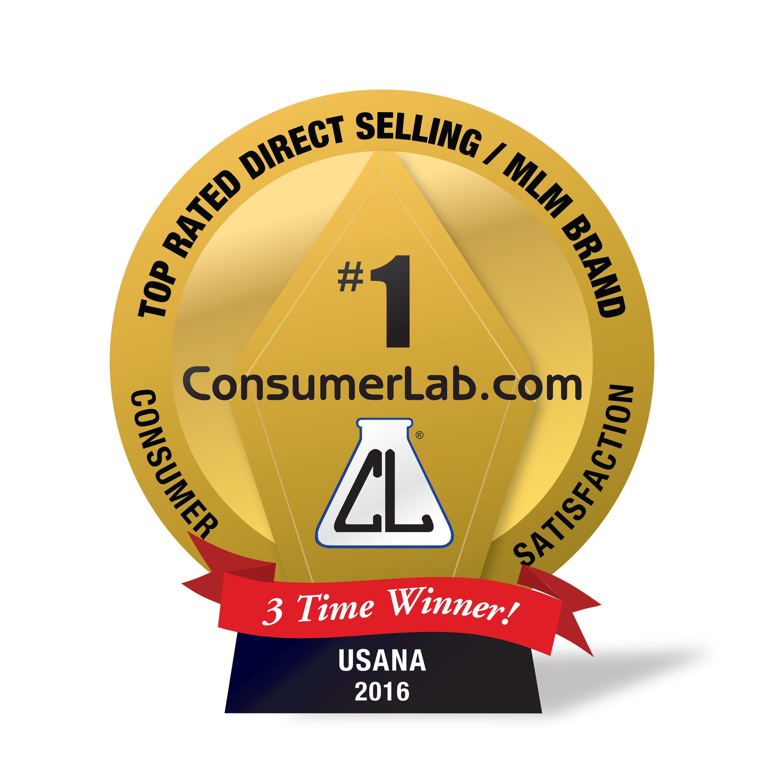 ConsumerLab.com Best Brand Award logo for Three-Time Winner USANA
