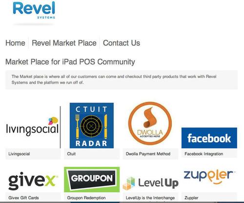 Revel POS System Marketplace.  (PRNewsFoto/Revel Systems)