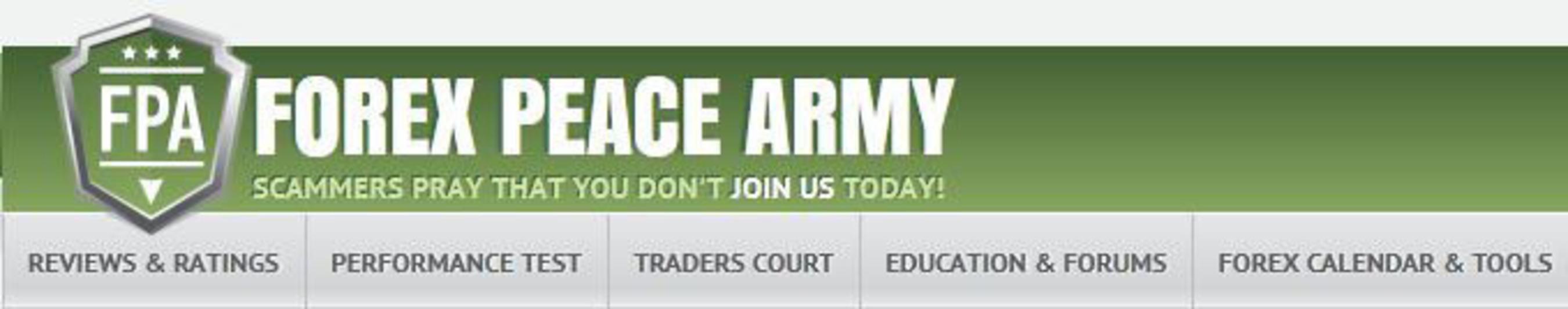 Forex Peace Army. (PRNewsFoto/Forex Peace Army) (PRNewsFoto/FOREX PEACE ARMY)