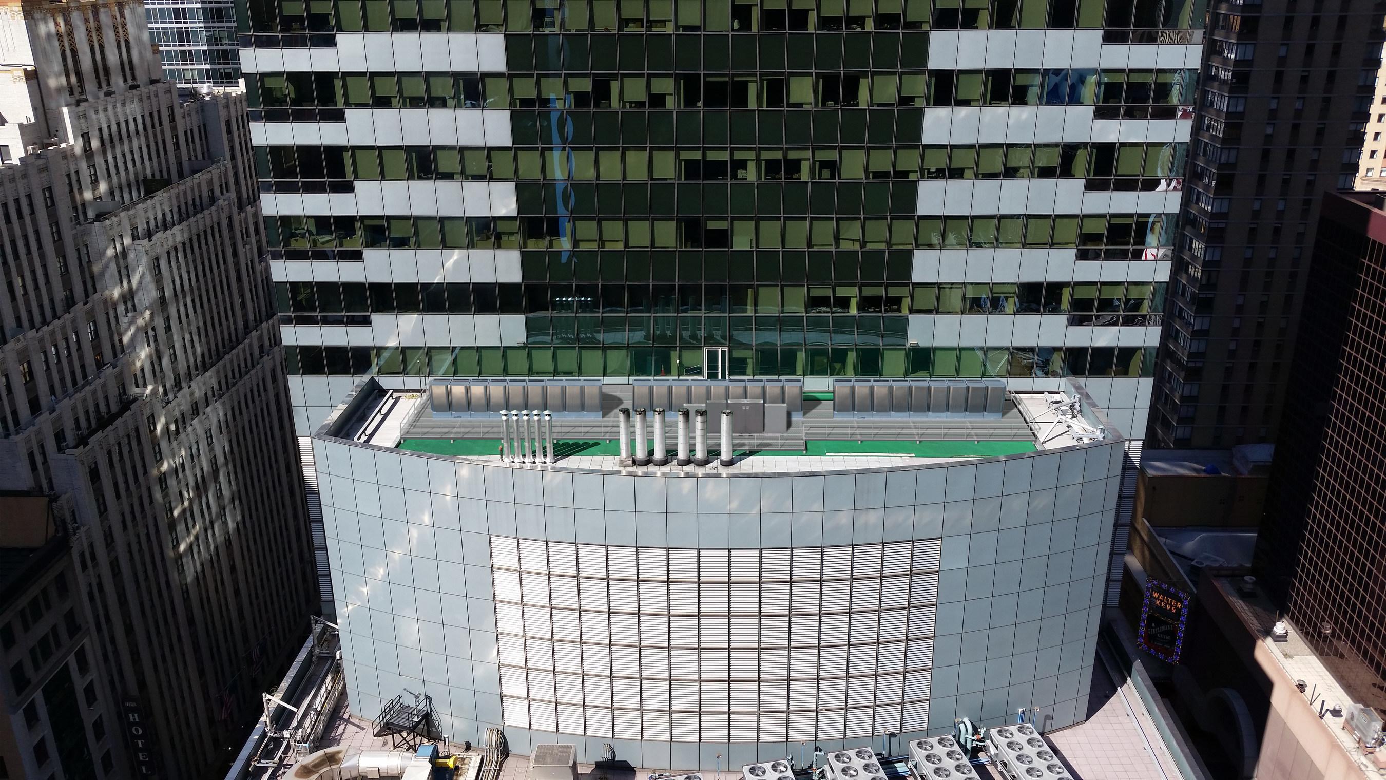 Rendering of Bloom Energy Servers at Morgan Stanley Headquarters