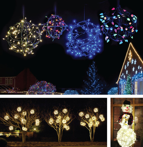 new decoshape globes are perfect for making your holiday light balls available in 10 - Outdoor Christmas Light Balls