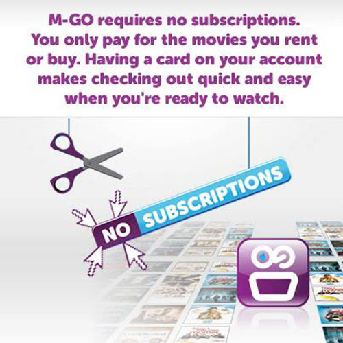 Pay-as-You-GO. No Strings and No Additional Hardware Needed to Stream the Freshest Movie Releases (sooner than Netflix and DVD releases) and TV Shows with M-GO. Create up to six profiles and set individual spending limits to rent or buy content from the digital entertainment service.   (PRNewsFoto/M-GO)