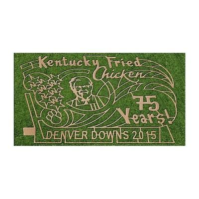 Do Aliens Love KFC Too? Giant Corn Maze Features Colonel Sanders Image