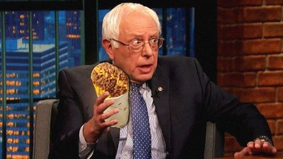 How will the candidates spend Cinco de Mayo? Senator Bernie Sanders might celebrate by enjoying a burrito... which will lead to an internet meme nicknaming him Burnito Sanders.