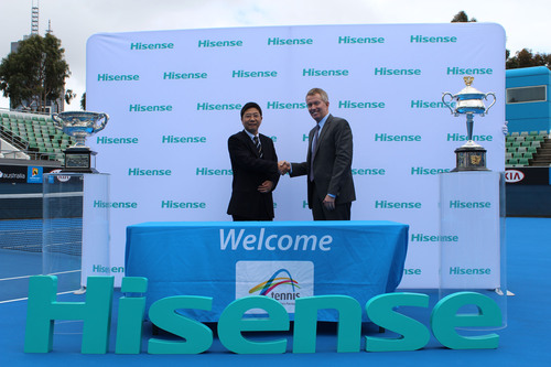 Hisense Serves Up an Ace as Official Sponsor and Supplier for Australian Open.  (PRNewsFoto/Hisense Group)