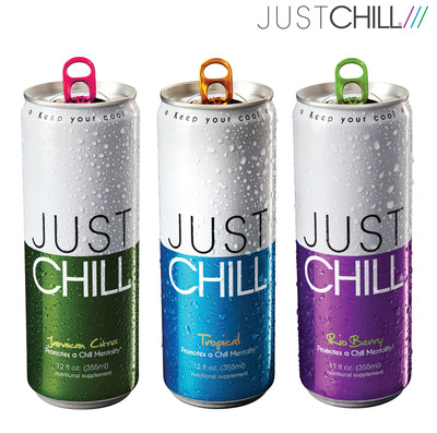 Just Chill Beverages: Jamaican Citrus, Tropical and Rio Berry.  (PRNewsFoto/The Chill Group, Inc.)