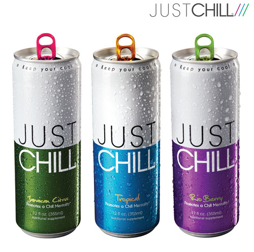 Just Chill Beverages: Jamaican Citrus, Tropical and Rio Berry. (PRNewsFoto/The Chill Group, Inc.) ...