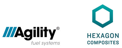 Agility Fuel Systems and Hexagon Composites Logos