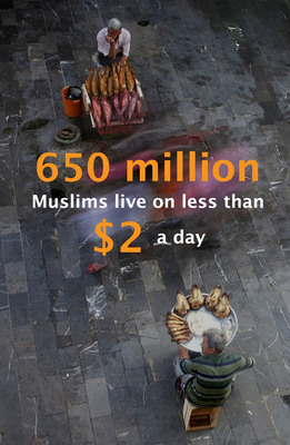 650 million Muslims live on less than $2 a day.  (PRNewsFoto/CGAP)
