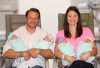 Parents Adam and Danielle Busby with Hazel Grace, Parker Kate, Riley Paige and Olivia Marie at The Woman's Hospital of Texas. (Photo Left to Right)