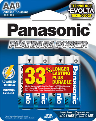 New Platinum Power AA and AAA batteries are now powered by Evolta technology.