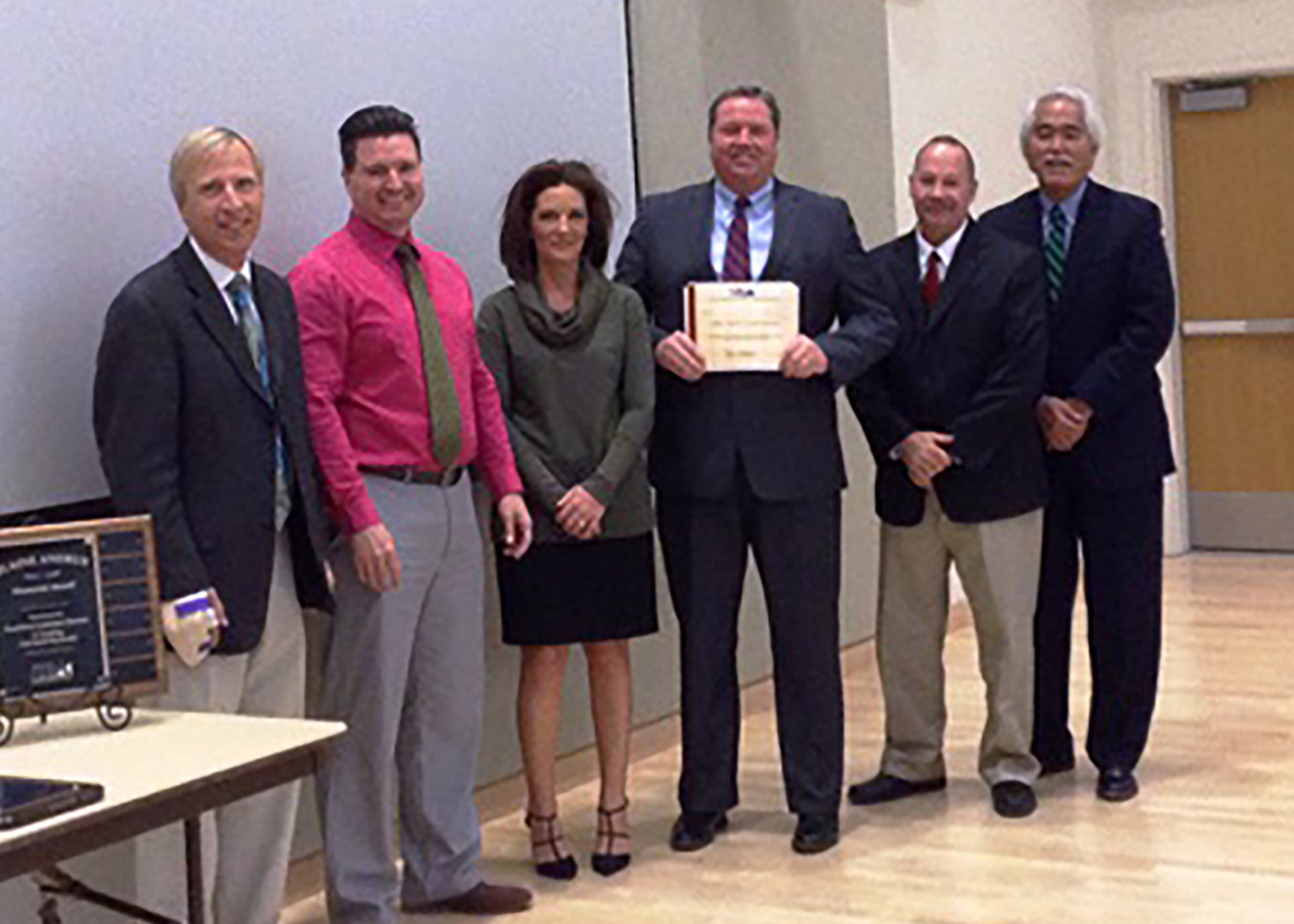 Left to right - Karl Wernick, Lender Relations Specialist, SBA; Ted Elliott, Lender Relations Specialist, SBA; Lana Waldron, VP Commercial Credit Operations, Celtic Bank; Wade Newman, President, Celtic Bank; Brad Bybee, Chief Lending Officer, Celtic Bank; Stan Nakano, District Director, SBA
