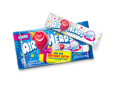 To kick off the birthday celebration, Airheads released a new limited-edition birthday cake flavor bar, available in the six-pack and 10-pack minis at many retailers.