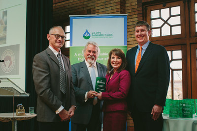 Pictured left to right: Jerry Jennissen, Phil Lempert, Supermarket Guru and emcee of the awards program; Linda Jennissen and Lucas Sjostrom.