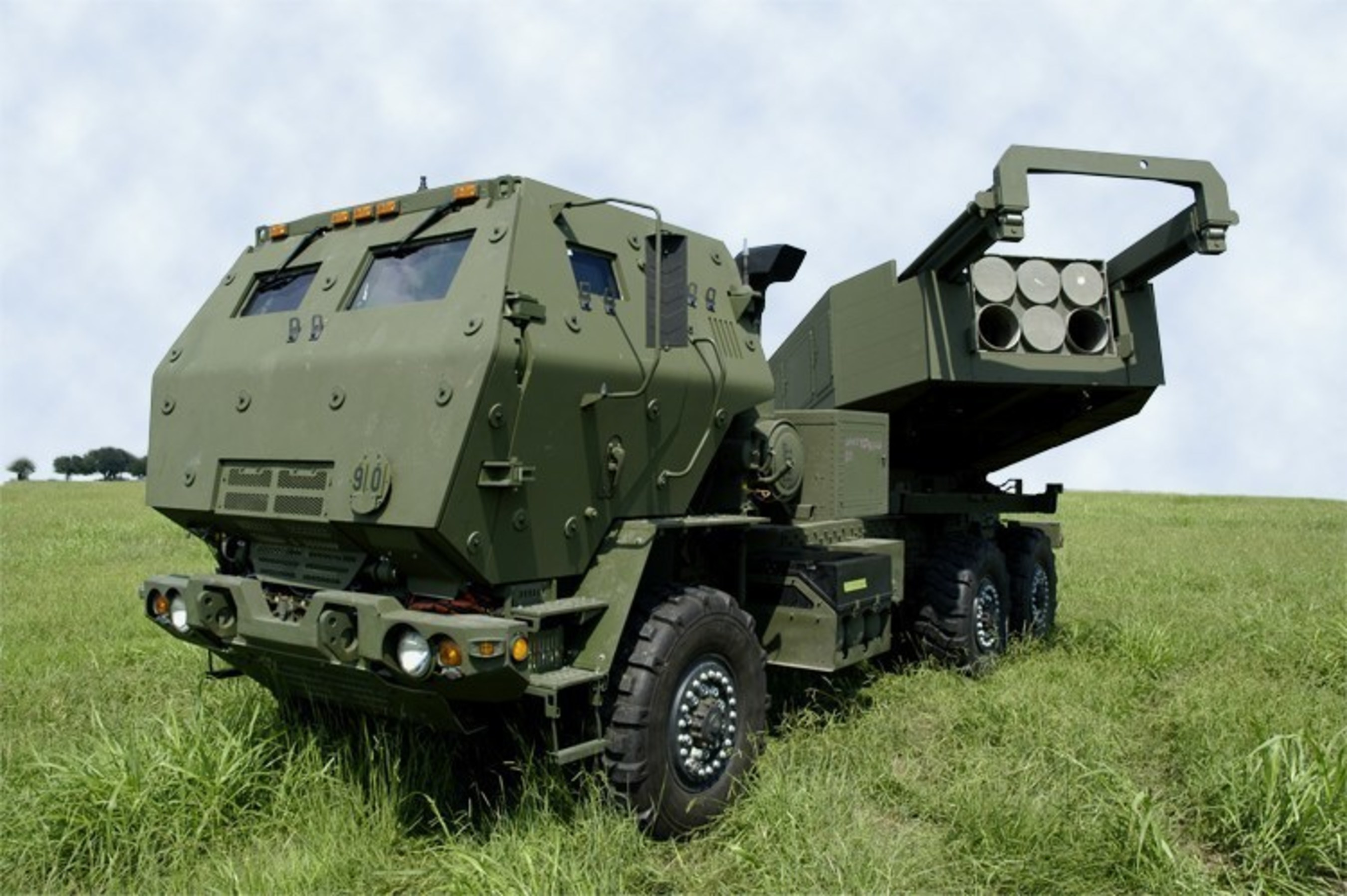 The Lockheed Martin HIMARS launcher fires both GMLRS rockets and ATACMS missiles to strike targets with surgical precision.