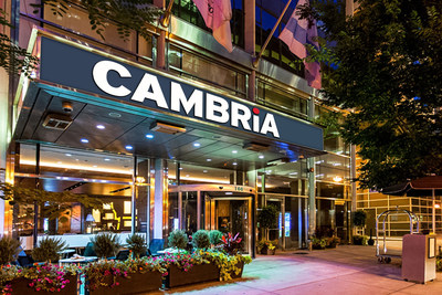 Street view of the newly converted Cambria Chicago Magnificent Mile, located at 166 East Superior Street in the Streeterville neighborhood.
