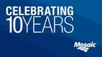 Mosaic 10 Year Anniversary (PRNewsFoto/The Mosaic Company)