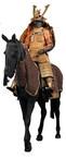 (Horse Armor & Soldier Armor)Tachidō tōsei gusoku (armor), late Edo period. Bagai (horse armor), Momoyama to Edo period: 2nd half of 19th century. Bamen (horse mask), late 16th century. Bagu (horse tack), 17th century. Iron, wood, lacquer, leather, brocade, horsehair, gold. Photograph by Brad Flowers. (C)The Ann & Gabriel Barbier-Mueller Museum, Dallas.
