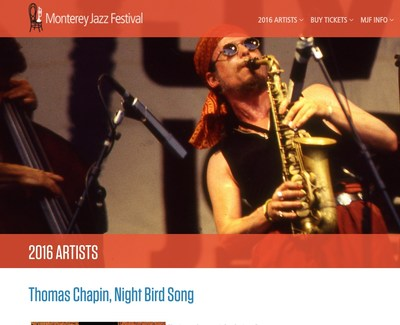 Thomas Chapin Film at the Monterey Jazz Festival