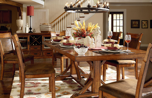Art Van Fall Catalog features new Dakota Ridge Dining Table.  (PRNewsFoto/Art Van Furniture)